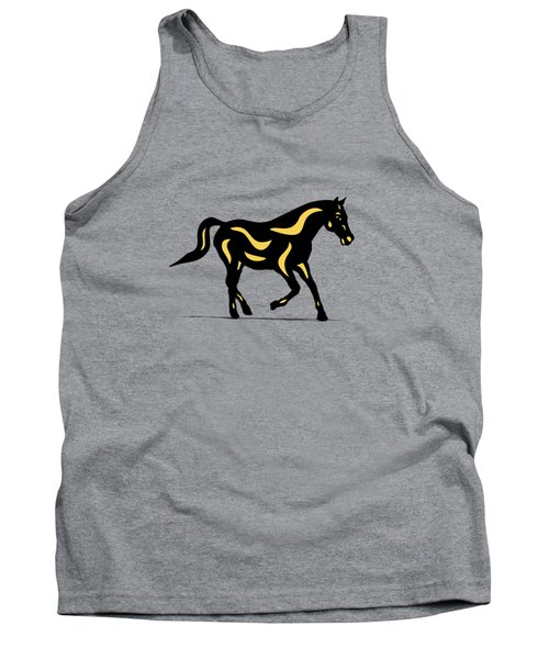 Heinrich - Pop Art Horse - Black, Primrose Yellow, Hazelnut Tank Top