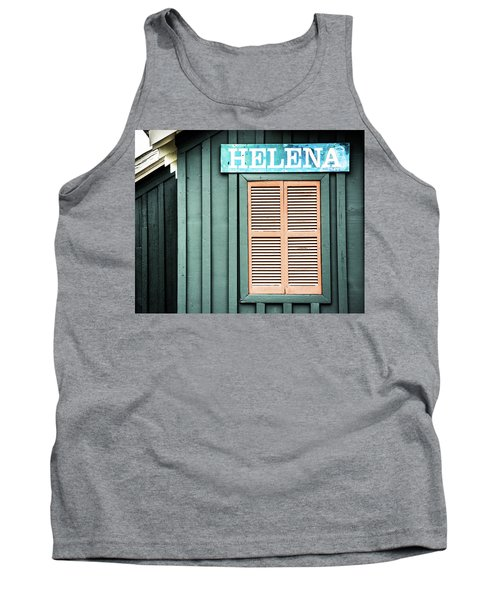 Tank Top featuring the photograph Helena Sign On A Spring Day by Parker Cunningham