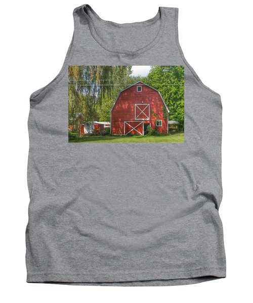 0018 - Henderson Road Red I Tank Top
