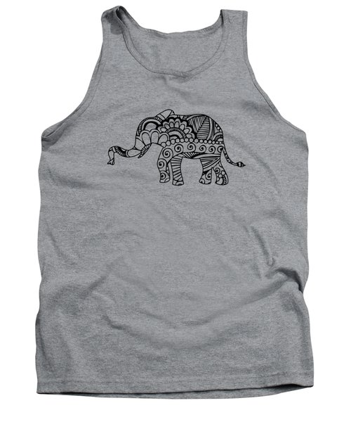 Henna Elephant 1 Tank Top