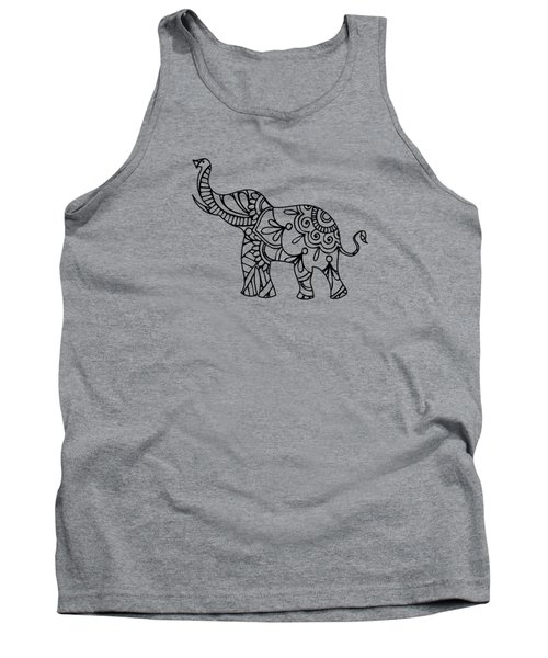 Henna Elephant 2 Tank Top
