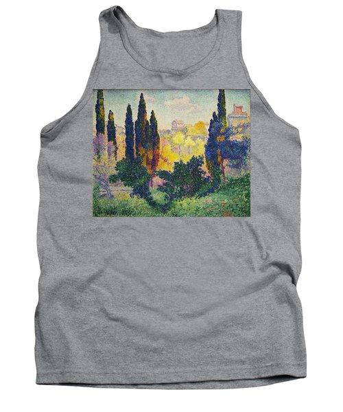 Henri Edmond Cross French Les Cypres A Cagnes Tank Top