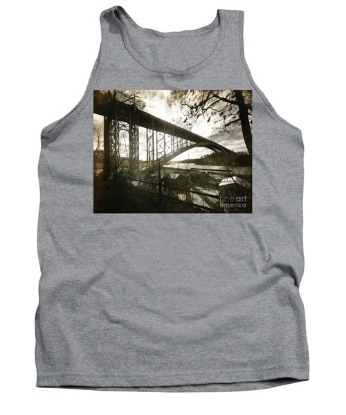 Tank Top featuring the photograph Henry Hudson Bridge, 1936 by Cole Thompson