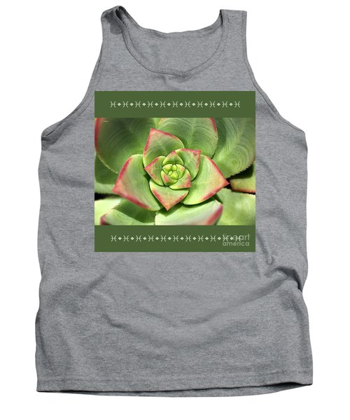 Hens And Chicks Succulent And Design Tank Top