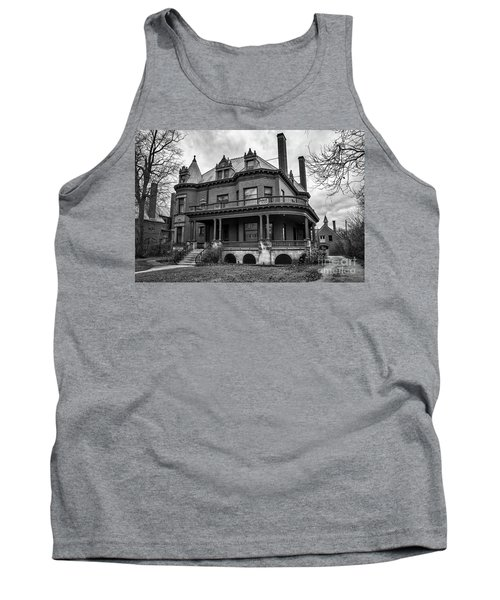 Heritage Hill Mansion In Black And White Tank Top