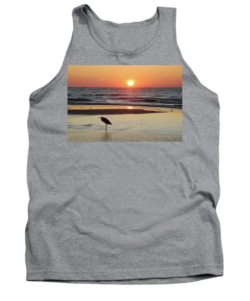 Heron Watching Sunrise Tank Top