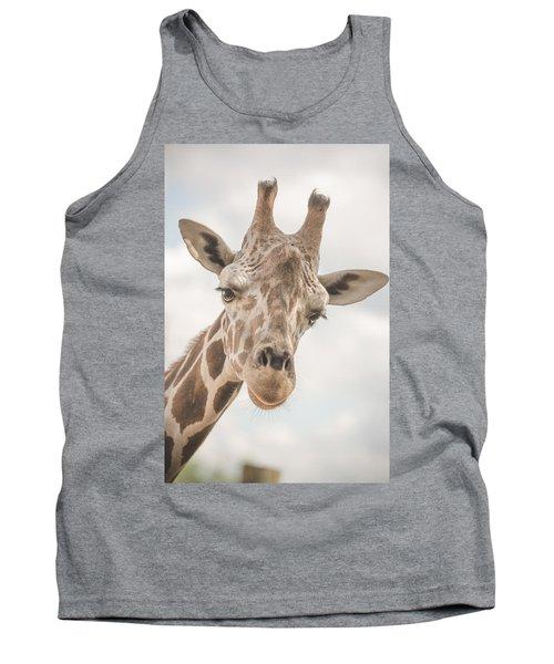 Hi There, I'm A Giraffe Tank Top by David Collins