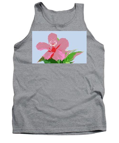 Tank Top featuring the digital art Hibiscus Flower Art - 2 by Karen Nicholson