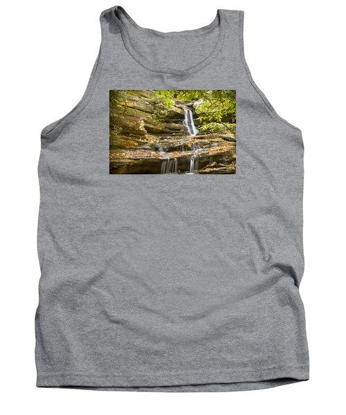 Tank Top featuring the photograph Hidden Falls-hanging Rock State Park by Bob Decker