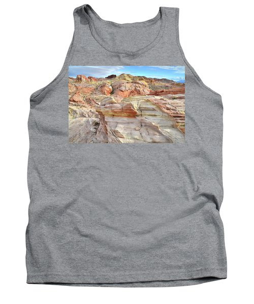 High Above Valley Of Fire Tank Top by Ray Mathis