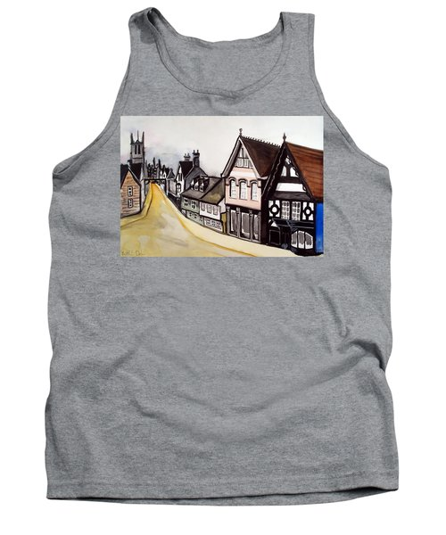 High Street Of Stamford In England Tank Top by Dora Hathazi Mendes