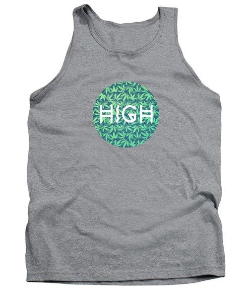 High Typo  Cannabis   Hemp  420  Marijuana   Pattern Tank Top