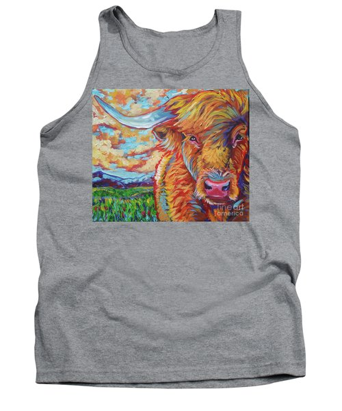 Tank Top featuring the painting Highland Breeze by Jenn Cunningham