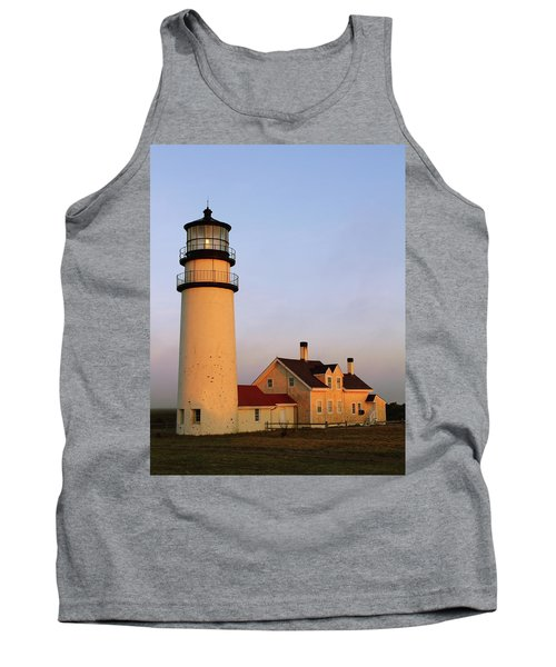 Higland Lighthouse Cape Cod Tank Top by Roupen  Baker