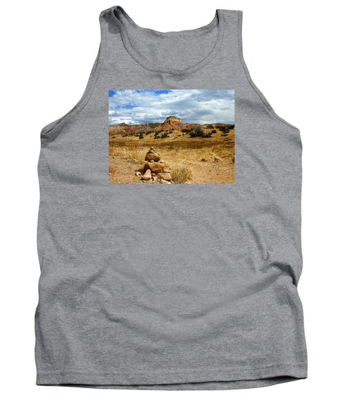 Tank Top featuring the photograph Hiking Ghost Ranch New Mexico by Kurt Van Wagner