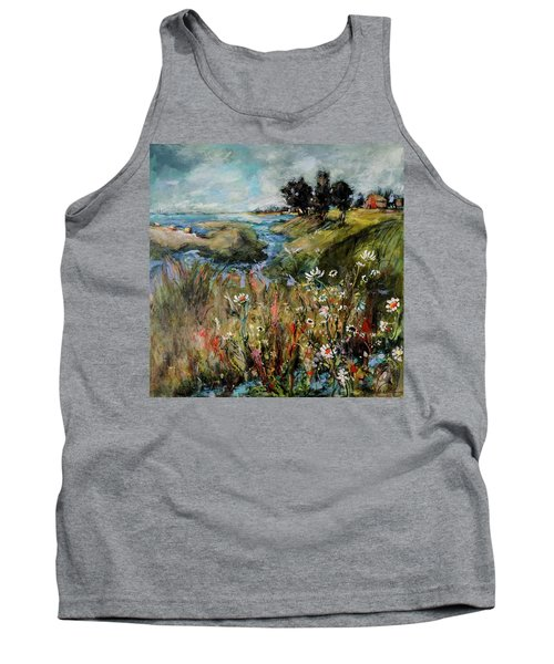 Hill Top Wildflowers Tank Top by Sharon Furner