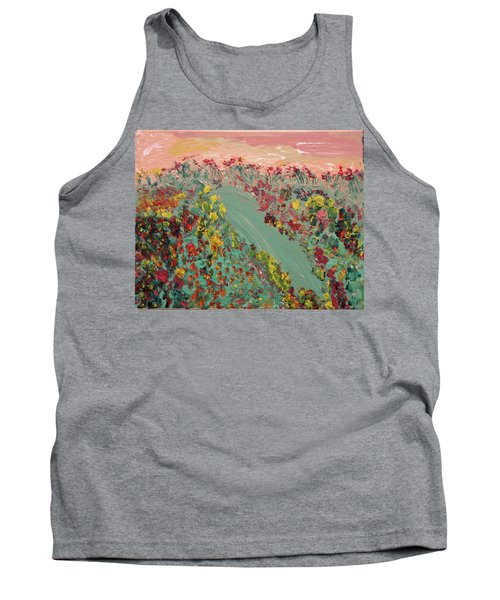 Hillside Flowers Tank Top by Karen Nicholson