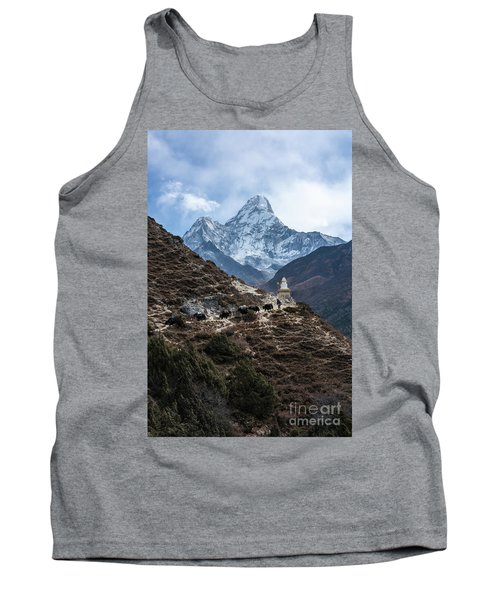 Tank Top featuring the photograph Himalayan Yak Train by Mike Reid