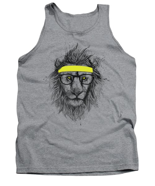 Hipster Lion Tank Top