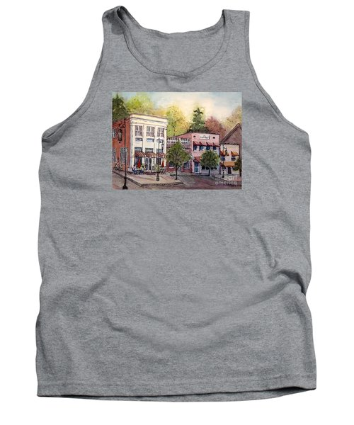 Tank Top featuring the painting Historic Blue Ridge Shops by Gretchen Allen