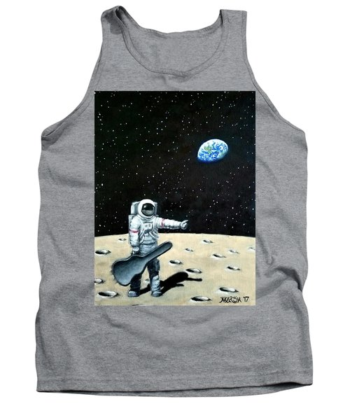 Hitchhiker With Guitar  Tank Top