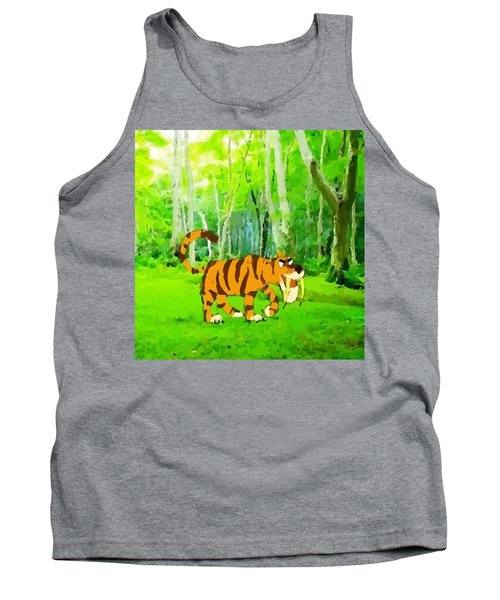 Hungry Tiger In The Jungle Tank Top