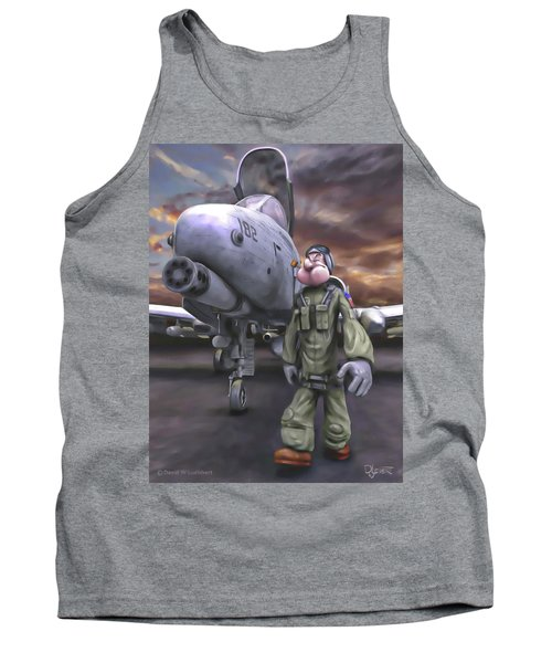 Tank Top featuring the painting Hogman by Dave Luebbert