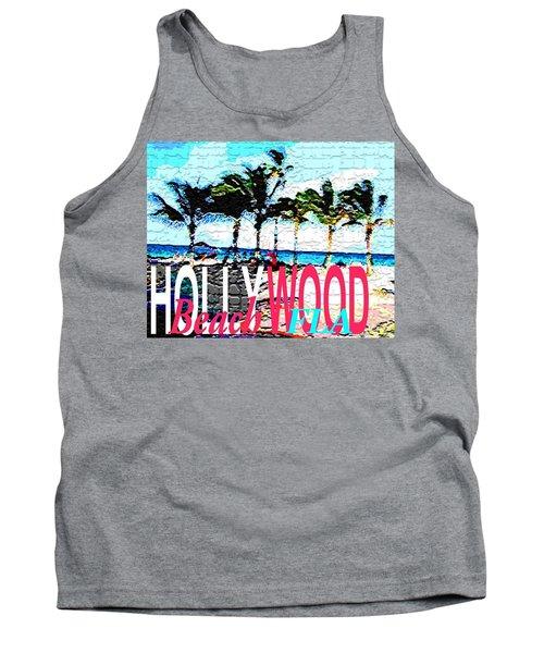 Hollywood Beach Fla Poster Tank Top