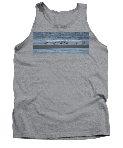 Horizontal Shoreline With Birds Tank Top