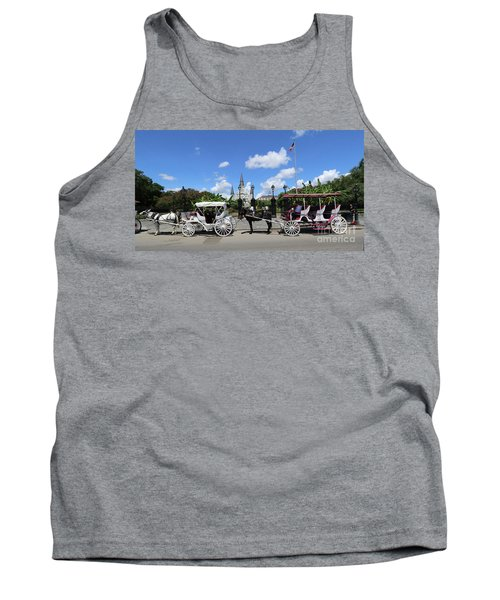 Tank Top featuring the photograph Horse Carriages by Steven Spak