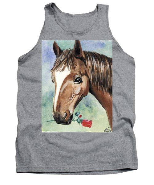 Horse In Love Tank Top by Alban Dizdari