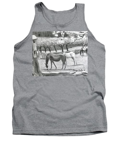 Horses And Trees In Bloom Tank Top