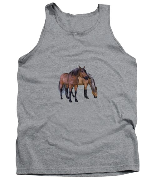Horses In A Misty Dawn Tank Top