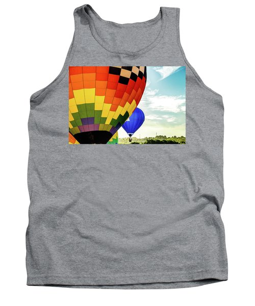 Hot Air Balloons Over Trees Tank Top