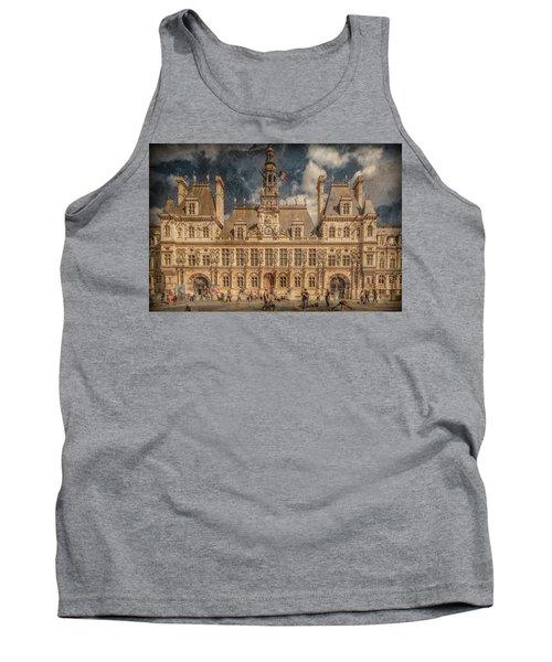 Paris, France - Hotel De Ville Tank Top