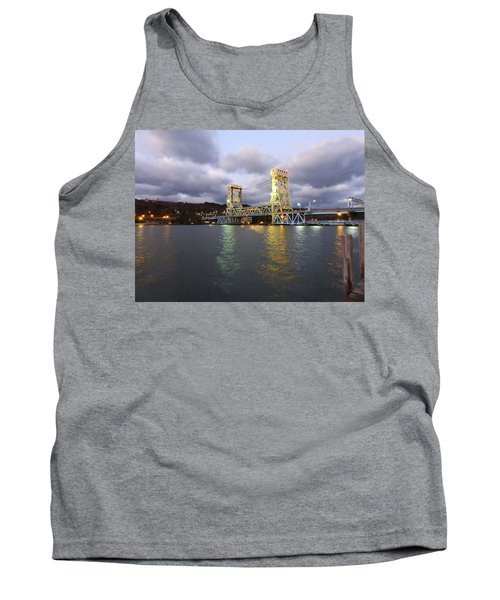 Tank Top featuring the photograph Houghton - Hancock Bridge by Janice Adomeit