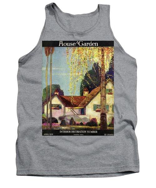 House And Garden Interior Decoration Number Cover Tank Top