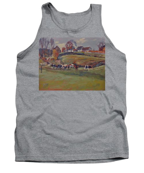 Houses And Cows In Schweiberg Tank Top
