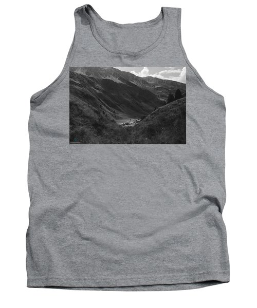 Hugged By The Mountains Tank Top by Cesare Bargiggia