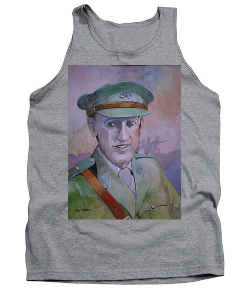 Tank Top featuring the painting Hugo Throssel Vc by Ray Agius