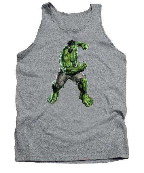 Tank Top featuring the mixed media Hulk Splash Super Hero Series by Movie Poster Prints