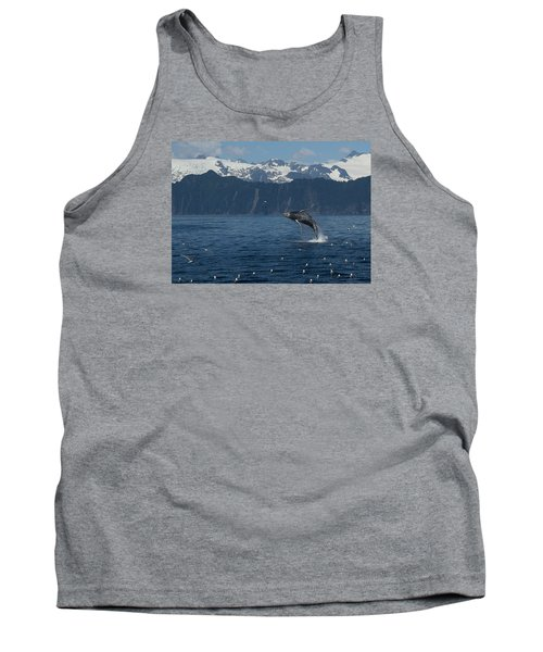 Humback Whale Arching Breach Tank Top