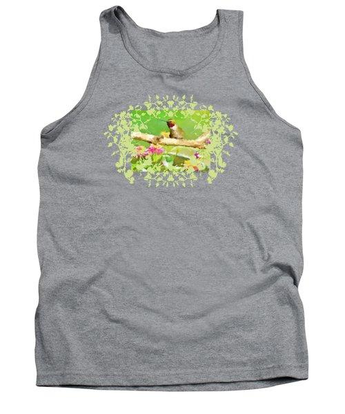 Hummingbird Attitude T - Shirt Designe Tank Top by Debbie Portwood