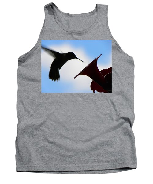 Tank Top featuring the photograph Hummingbird Silhouette by Sandi OReilly