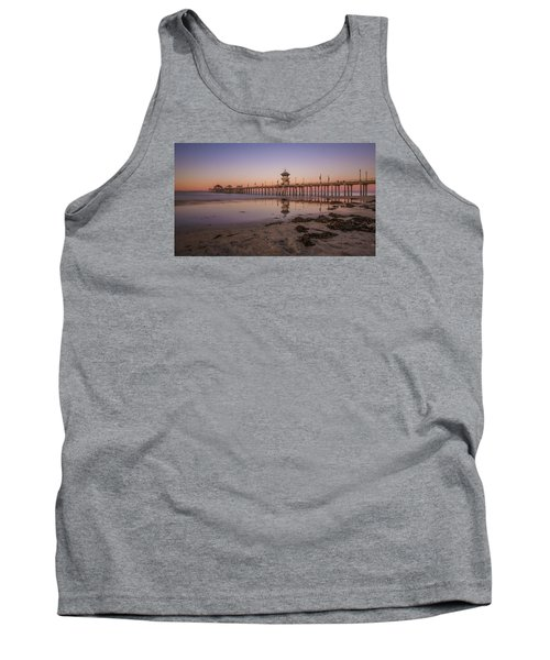 Tank Top featuring the photograph Huntington Beach Pier by Sean Foster