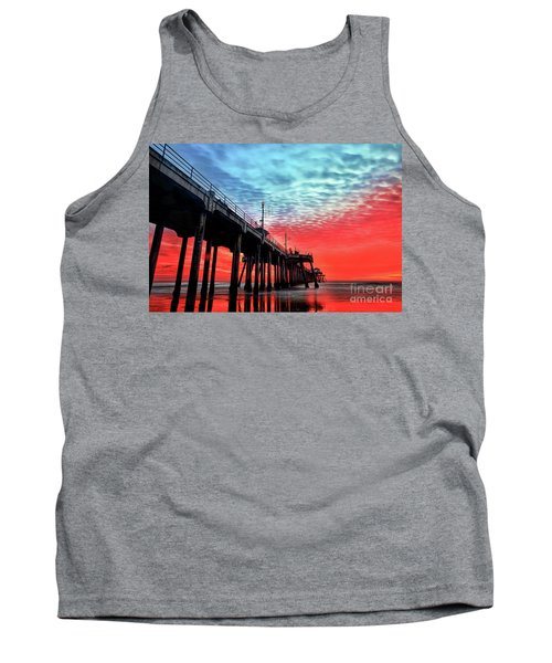 Huntington Beach Pier Sunset Tank Top