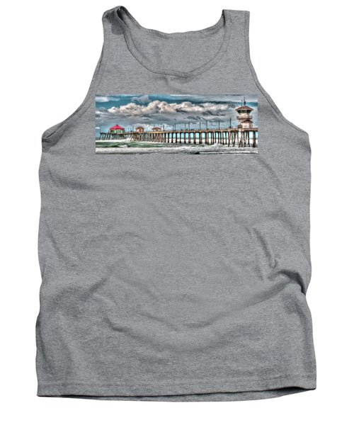 Tank Top featuring the photograph Huntington Beach Winter 2017 by Jim Carrell