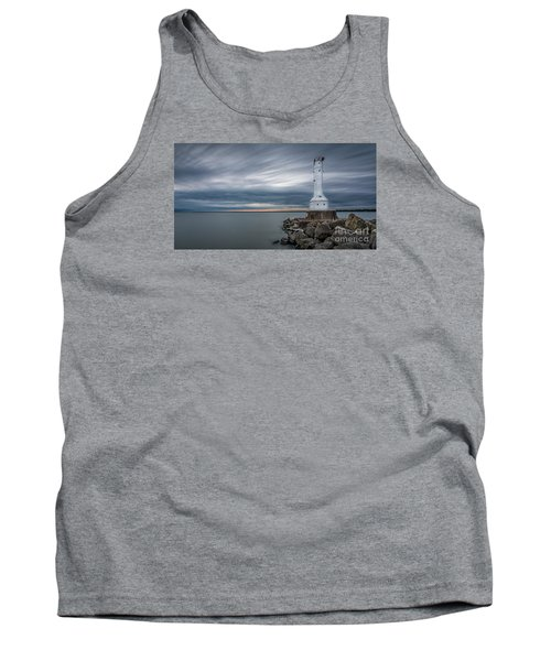 Huron Harbor Lighthouse Tank Top by James Dean