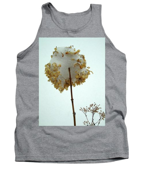Hydrangea Blossom In Snow Tank Top