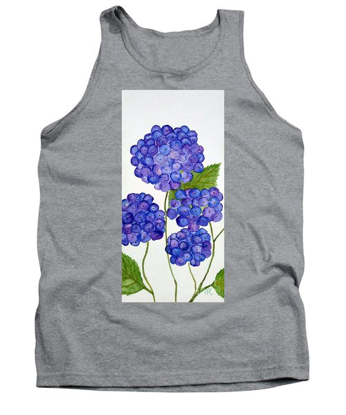 Tank Top featuring the painting Hydrangea by Reina Resto